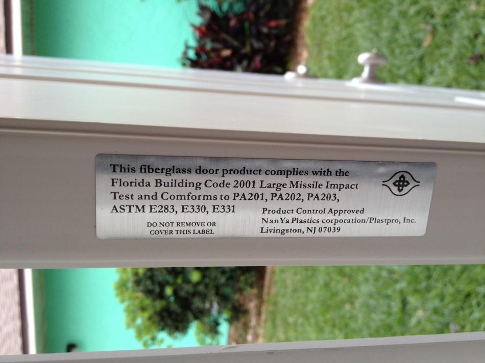 Impact Rated Window Sticker